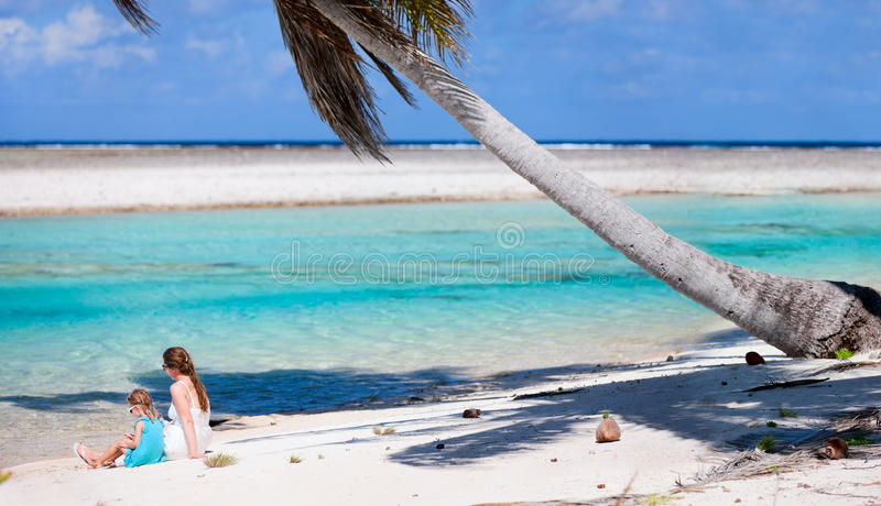 Download Mother And Daughter On Tropical Beach Stock Photo - Image: 26993612