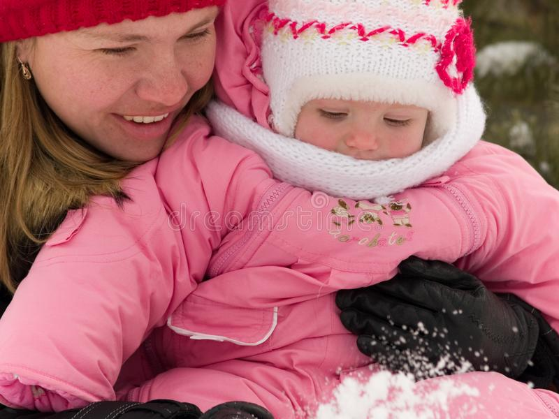 Download Mother And Daughter At Winter Stock Photo - Image: 7825390