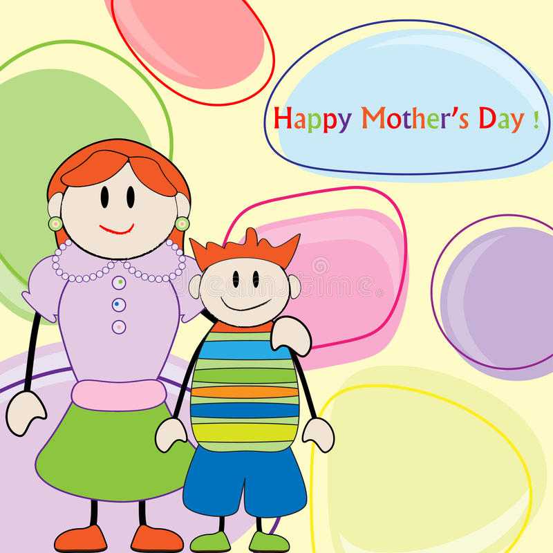 Mother Day Greeting Card Royalty Free Stock Images