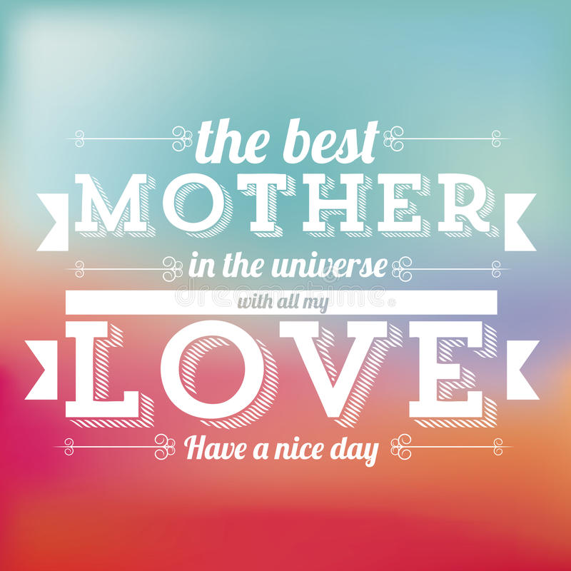 The mother day royalty free illustration