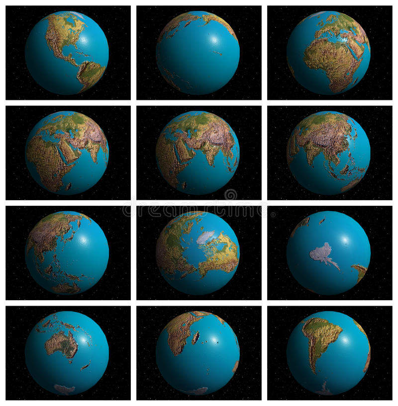 Mother Earth In 3D Stock Photo