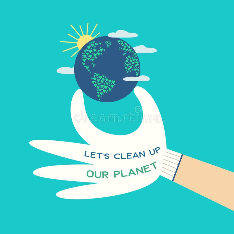 Mother Earth day stock illustration