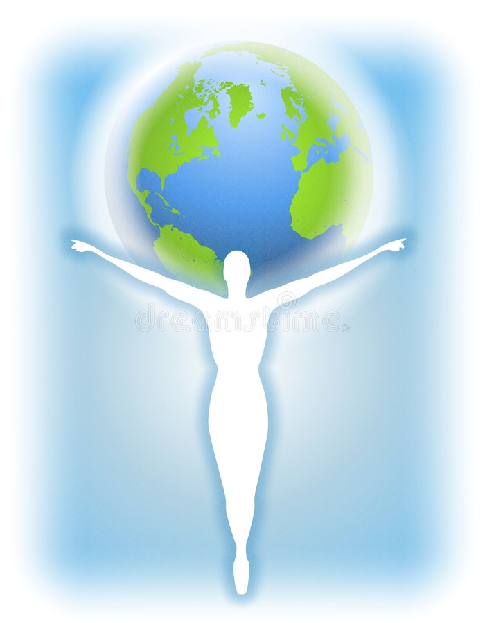 Mother Earth Human Silhouette Stock Images