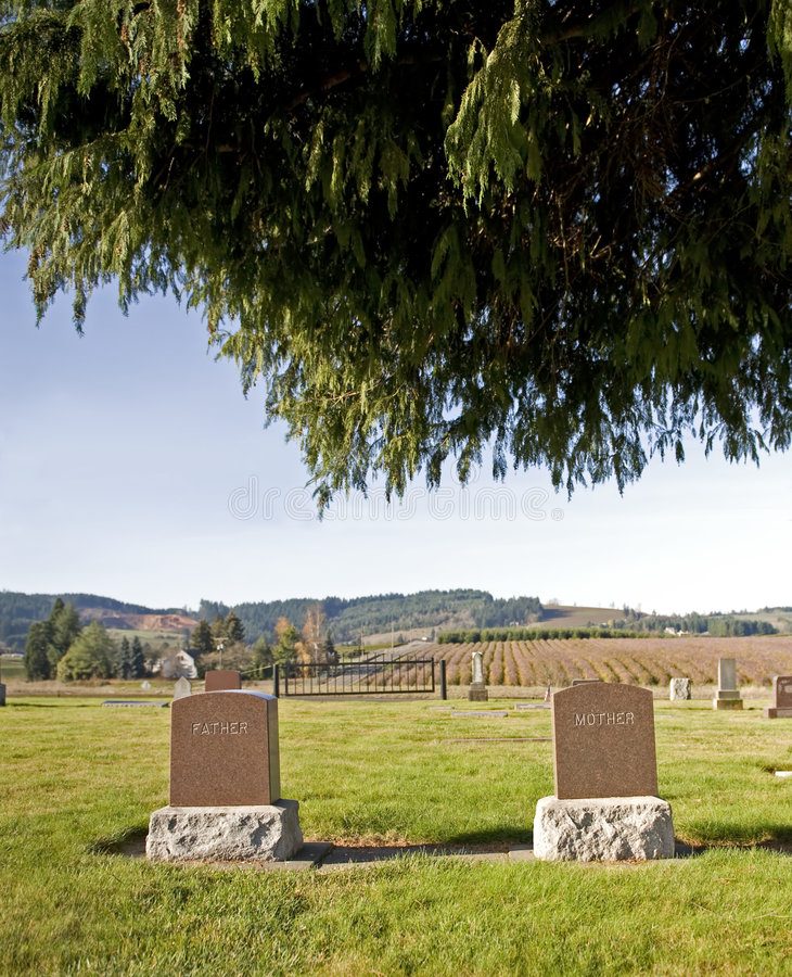 Mother & Father headstones royalty free stock photography