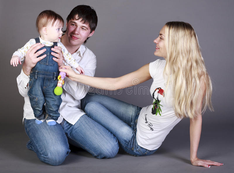 mother, father and little boy royalty free stock photography