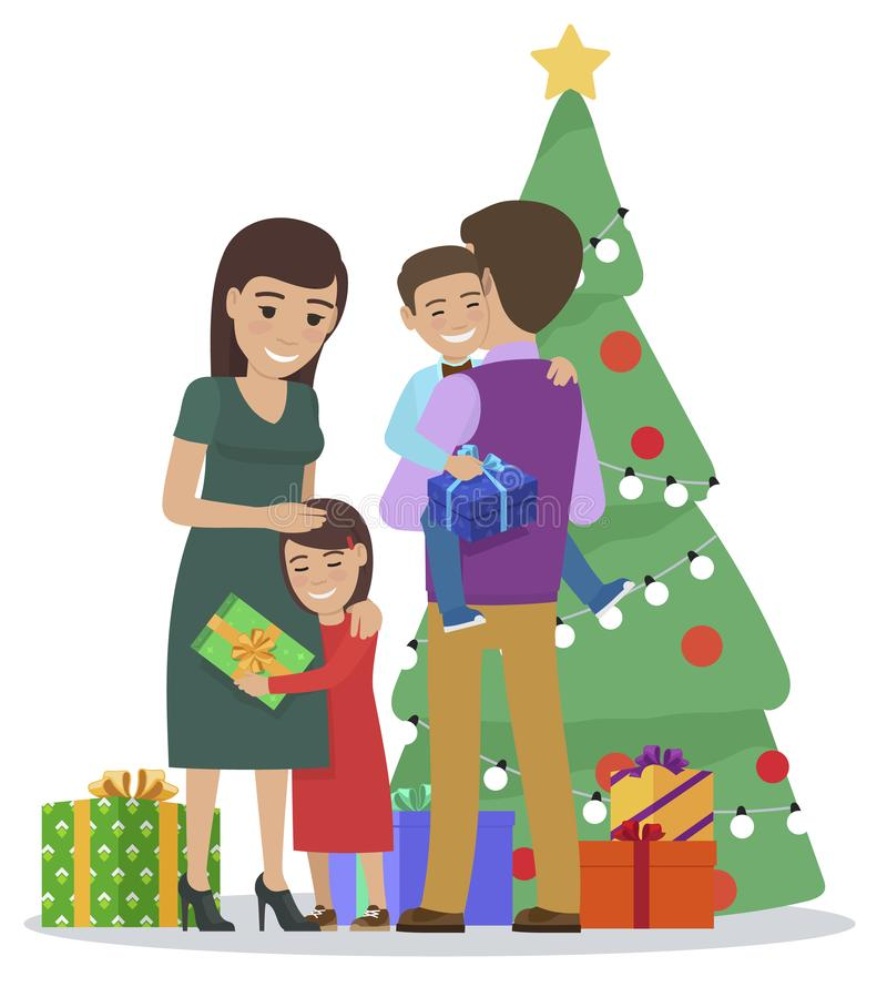 Family Exchanging Gifts Christmas Tree Stock Illustrations 17 Family Exchanging Gifts Christmas Tree Stock Illustrations Vectors Clipart Dreamstime