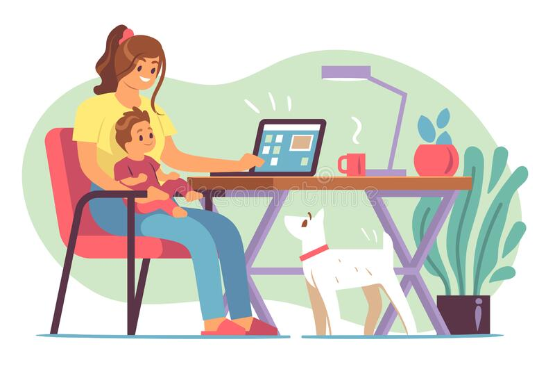 Image result for free clipart images of someone working from home