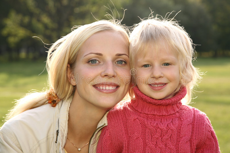Download Mother with girl stock photo. Image of family, adult, nature - 3201766
