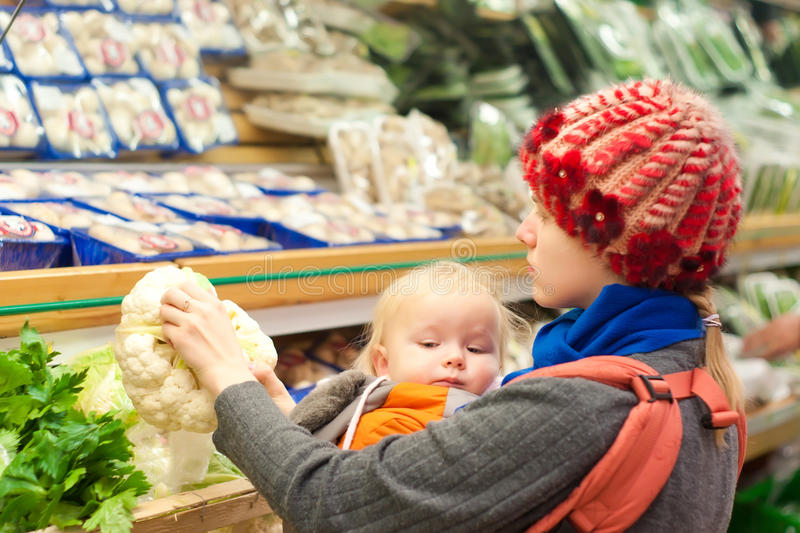 Download Mother With Girl Shopping Stock Photo - Image: 16975080
