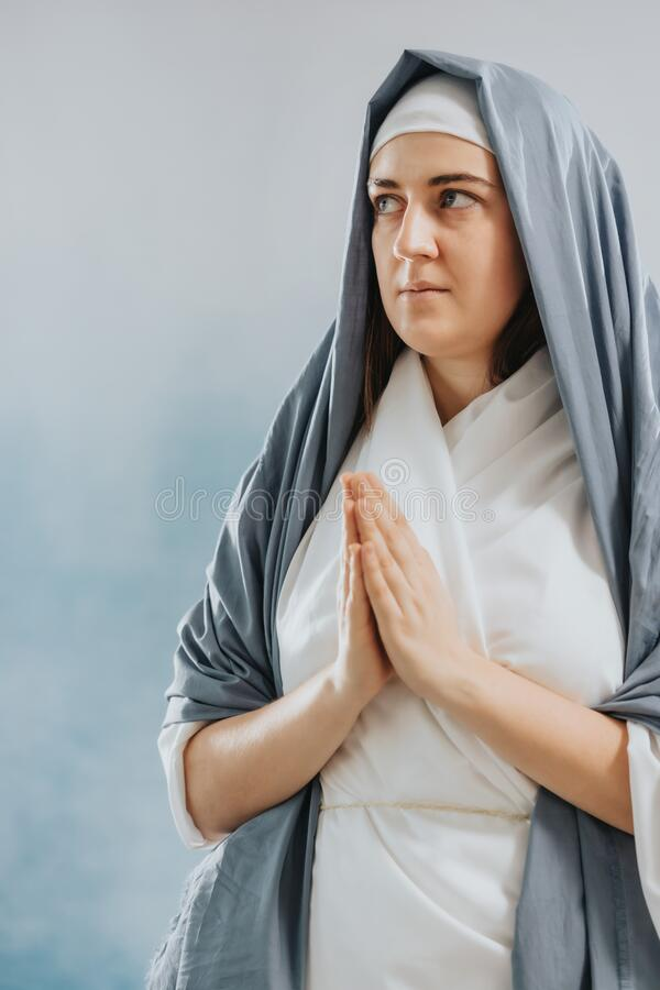 Mother of God praying royalty free stock photography