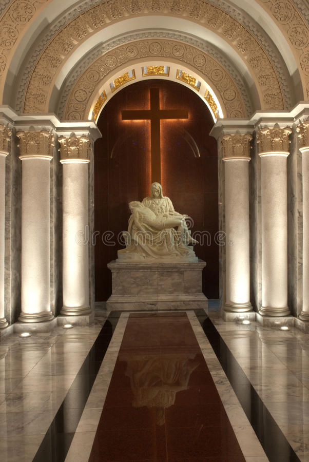 Download The Mother'of God And Crucifix In Church . Stock Image - Image of rome, catholicism: 21699835