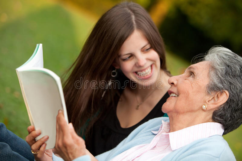 Download Mother And Granddaughter Reading Stock Image - Image: 16479027