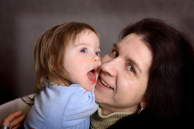 Mother and handicapped daughter royalty free stock photos