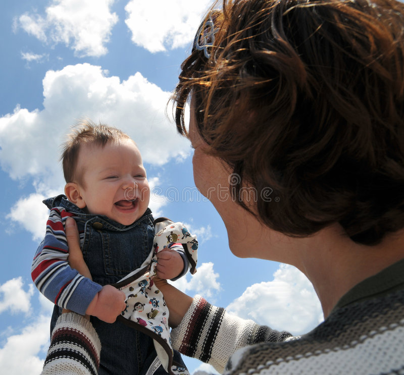Mother with happy baby royalty free stock images