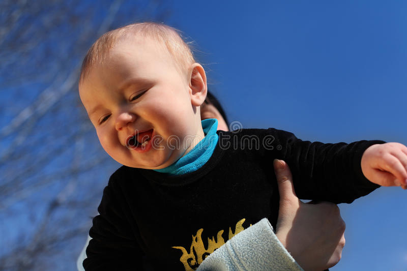 Download Mother Happy To Hold Baby In Hands. Boy. Stock Image - Image: 27499963