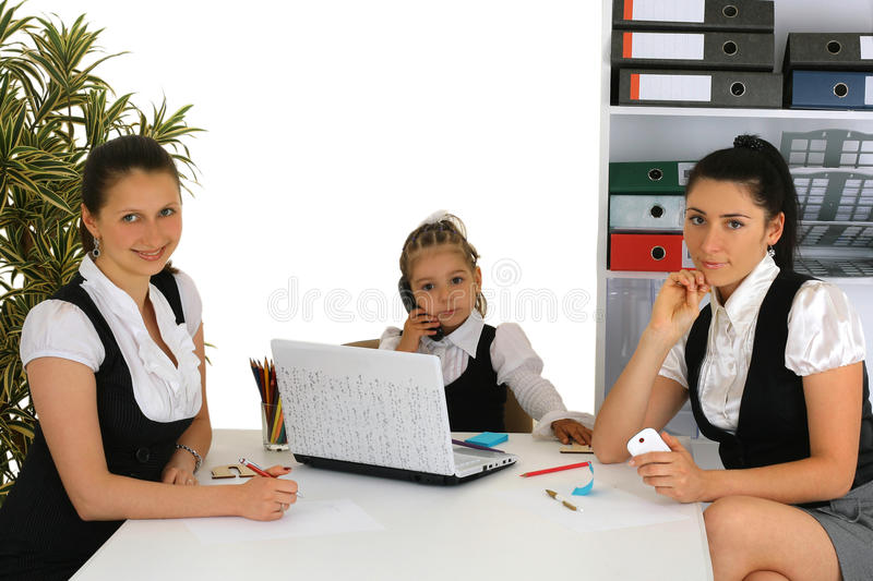 Download Mother Helping With Homework To Her Daughter Stock Photo - Image: 21848842