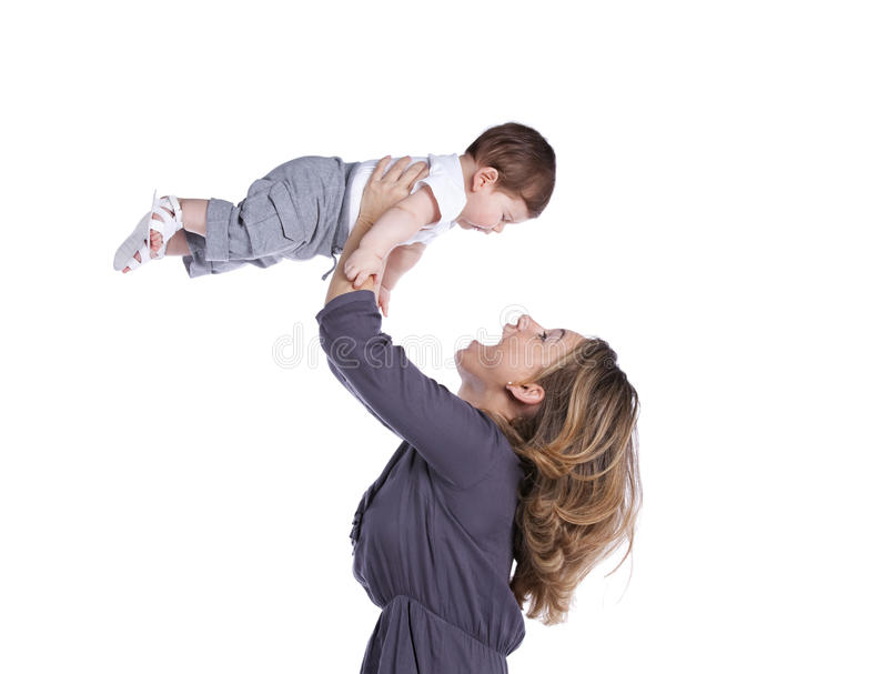 Download Mother with her baby son stock image. Image of little - 19689781