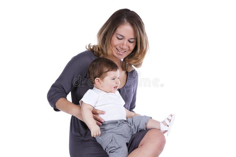Mother with her baby son royalty free stock photos