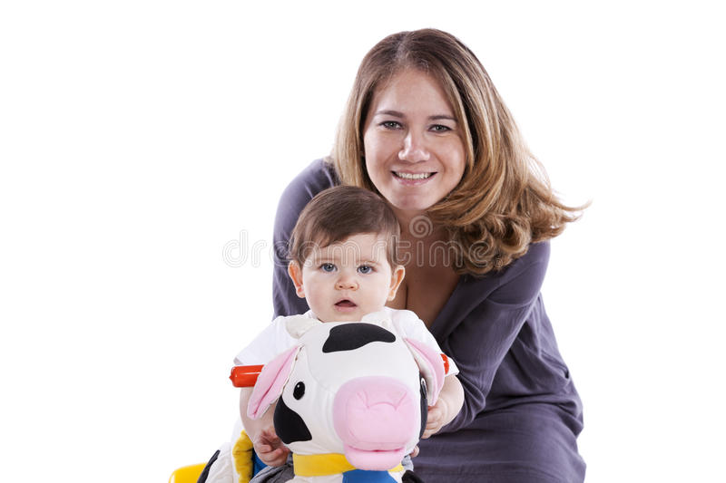 Download Mother with her baby son stock photo. Image of childcare - 20691808
