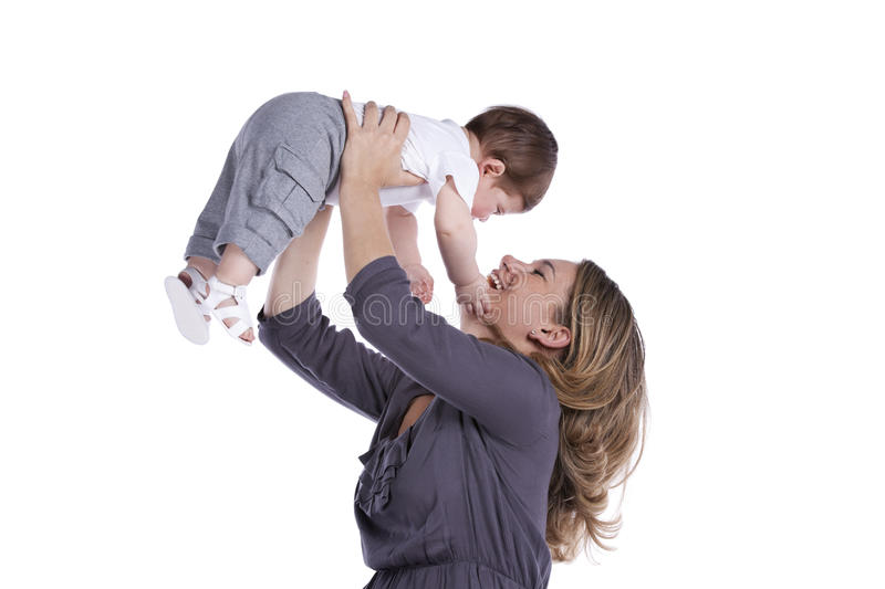 Download Mother with her baby son stock photo. Image of attractive - 20691810