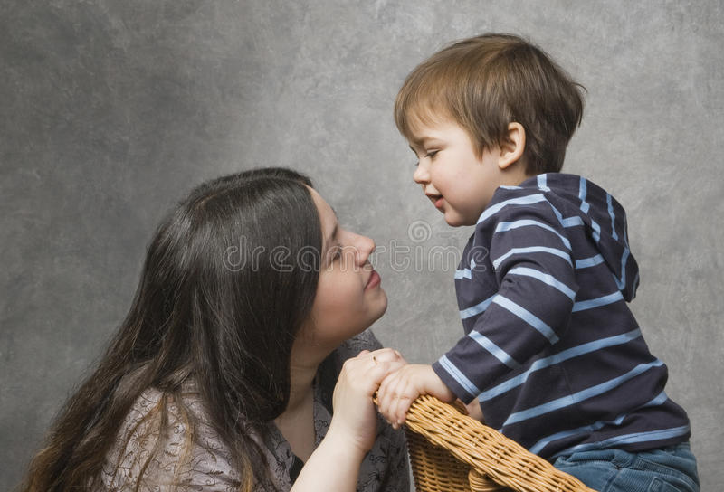 Mother with her child royalty free stock photography