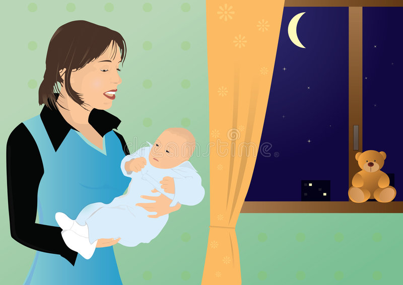 A Mother With Her Child Stock Image