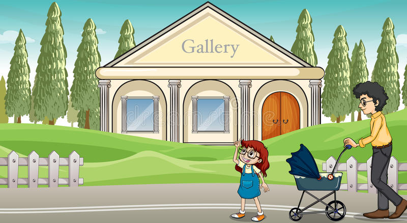 Download A Mother With Her Child Strolling Stock Vector - Image: 33098121