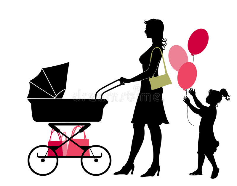 Download The mother and her childs stock vector. Image of beauty - 7892919