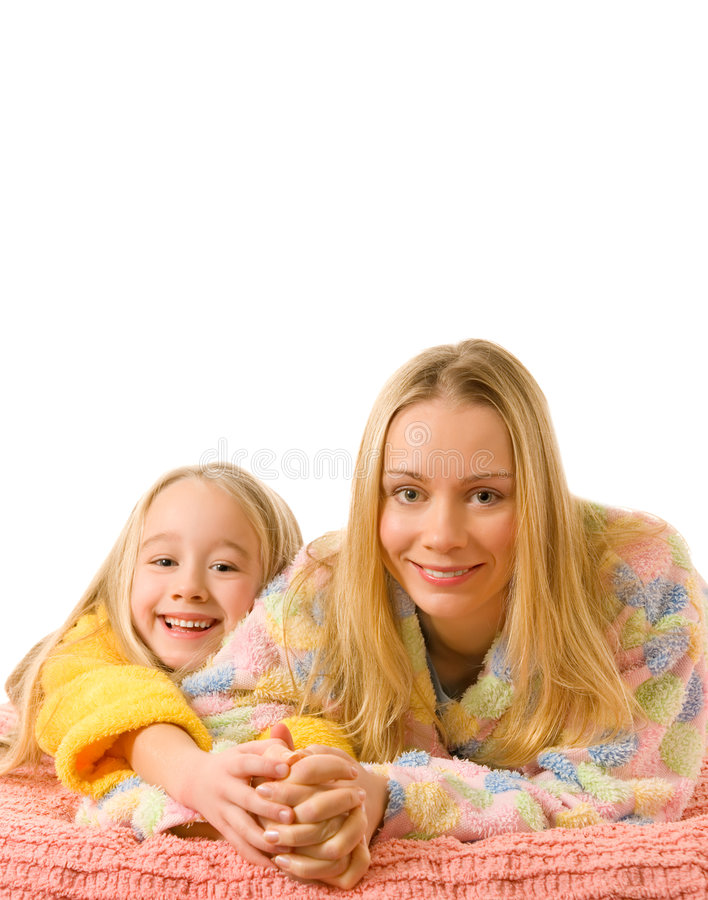 Mother and her daughter royalty free stock images