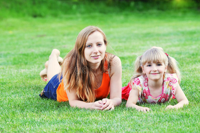 Mother With Her Daughter Stock Photos