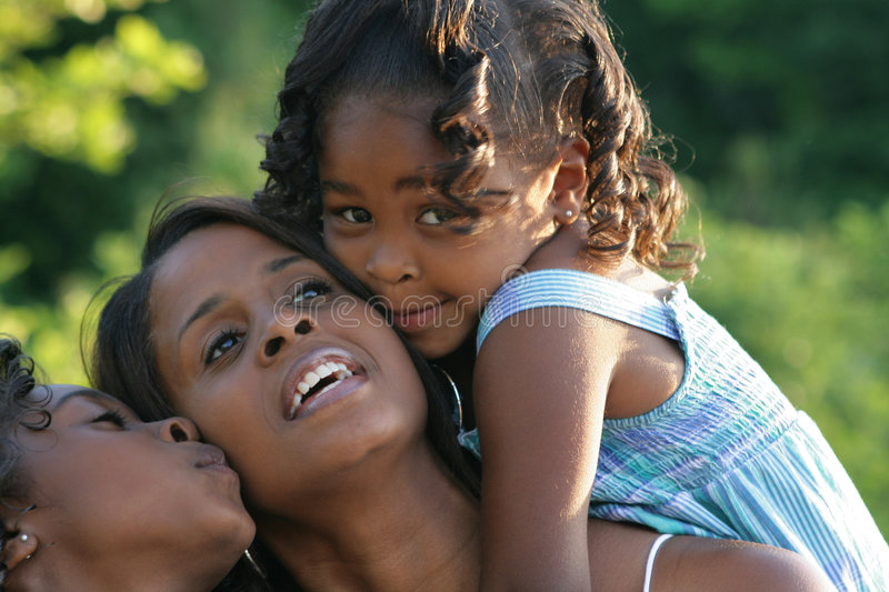 A mother and her daughters royalty free stock photography