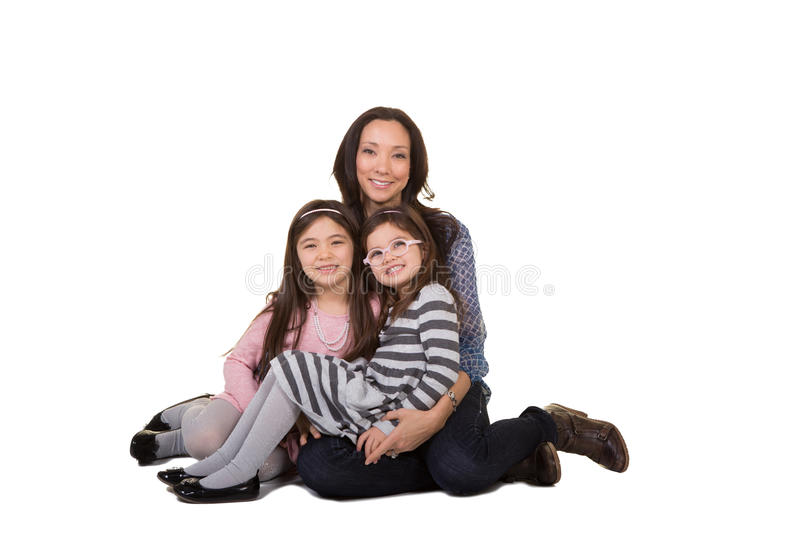 A mother and her daughters stock photo