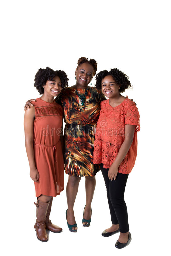 A mother and her 2 daughters royalty free stock image
