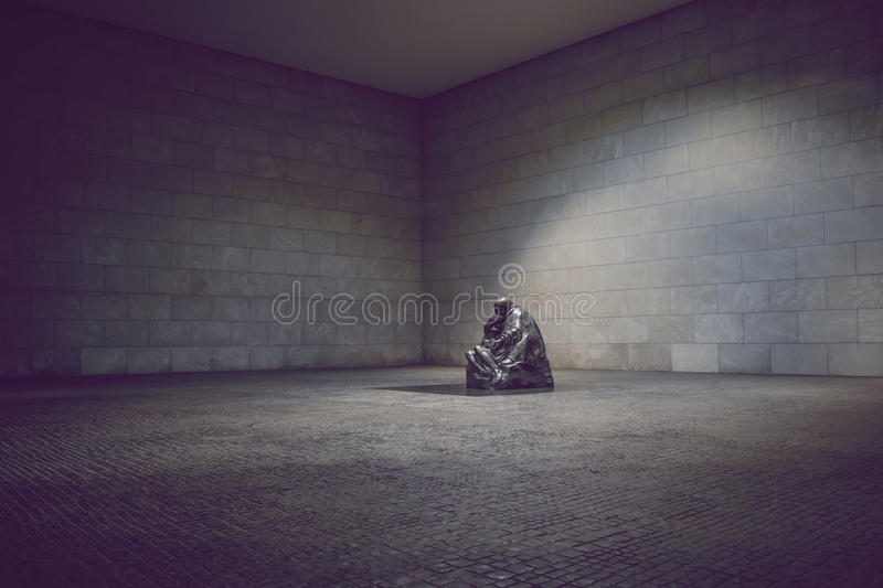 Mother with her Dead Son, Mutter mit totem Sohn. Neue Wache Memorial, Berlin. 'Mother with her Dead Son', 'Mutter mit totem Sohn'. Sculpture in Neue Wache stock photography