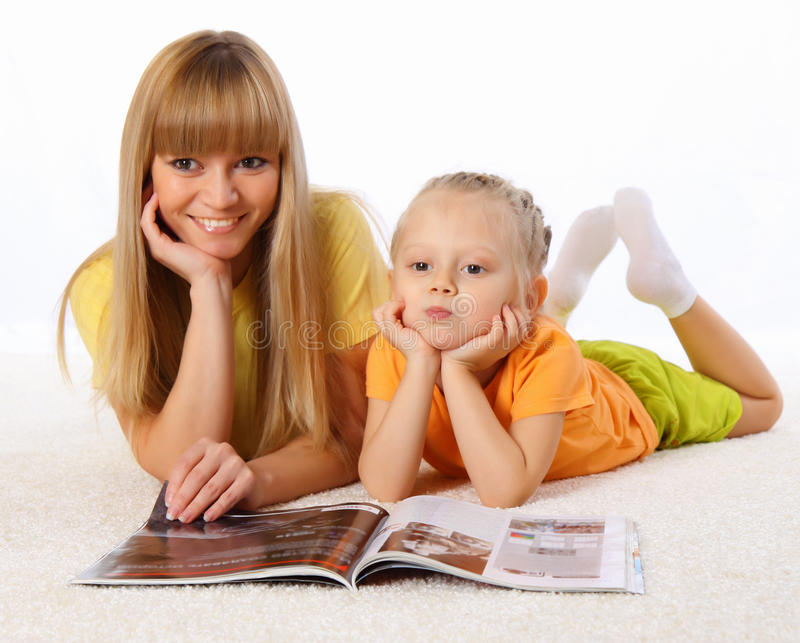 Mother and her little daughter spend time together royalty free stock photo