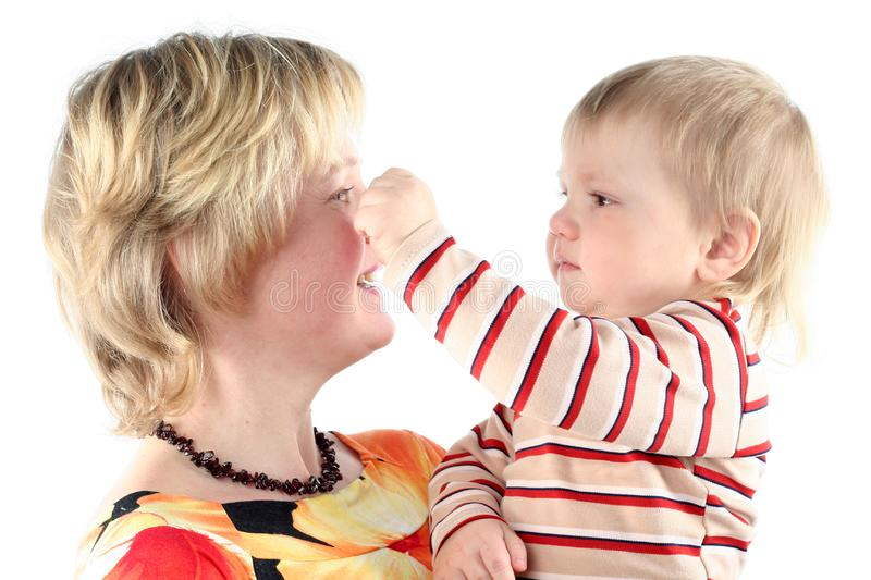 Download Mother and her little son stock image. Image of caucasian - 8664861