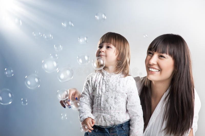 Download Mother And Her Pretty Daughter Stock Photo - Image of high, face: 17579726