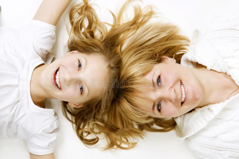 Mother and her teenage Daughter royalty free stock photo