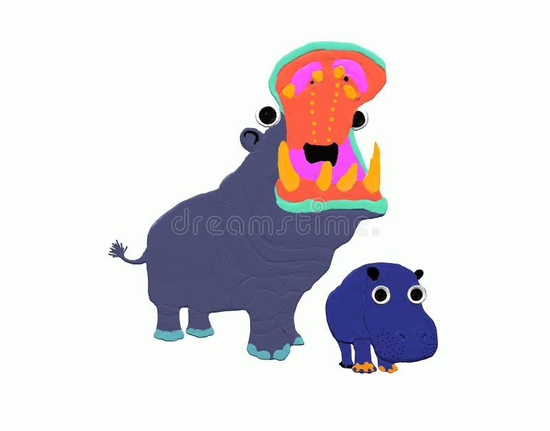 Mother hippo stock photos