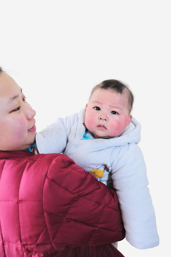 Download Mother holding baby son stock image. Image of parent - 23515681