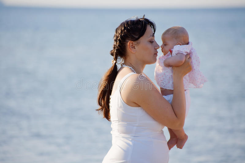 Download Mother holding child stock image. Image of daughter, adorable - 9585447
