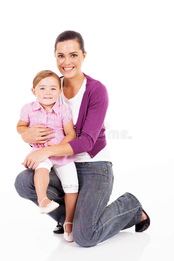 Mother Holding Daughter Stock Image