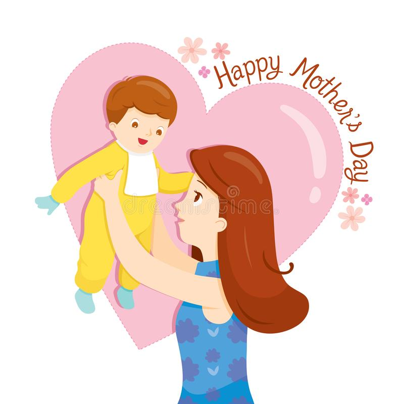 Mother Holding Her Baby Up With Love royalty free stock images