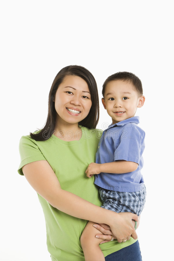 Mother holding son. royalty free stock photos