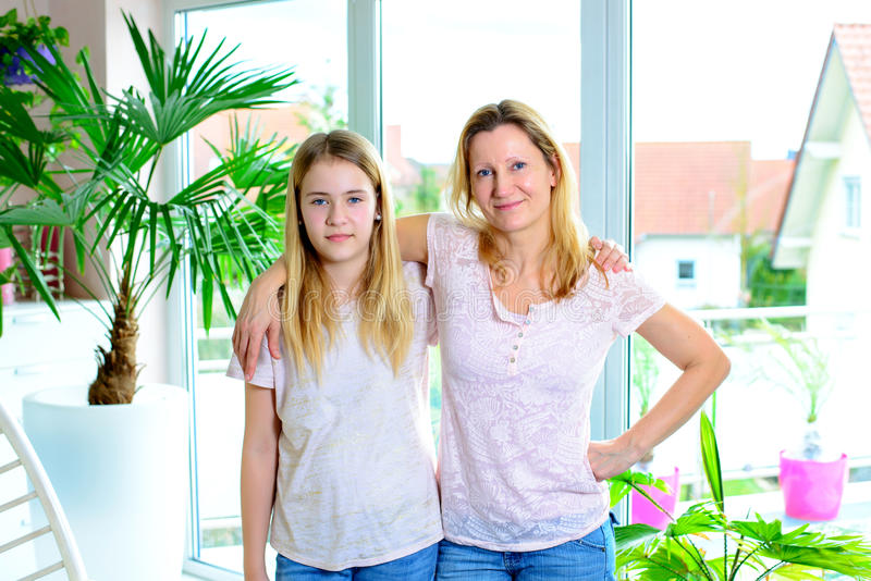 Mother hugged her daughter royalty free stock photos