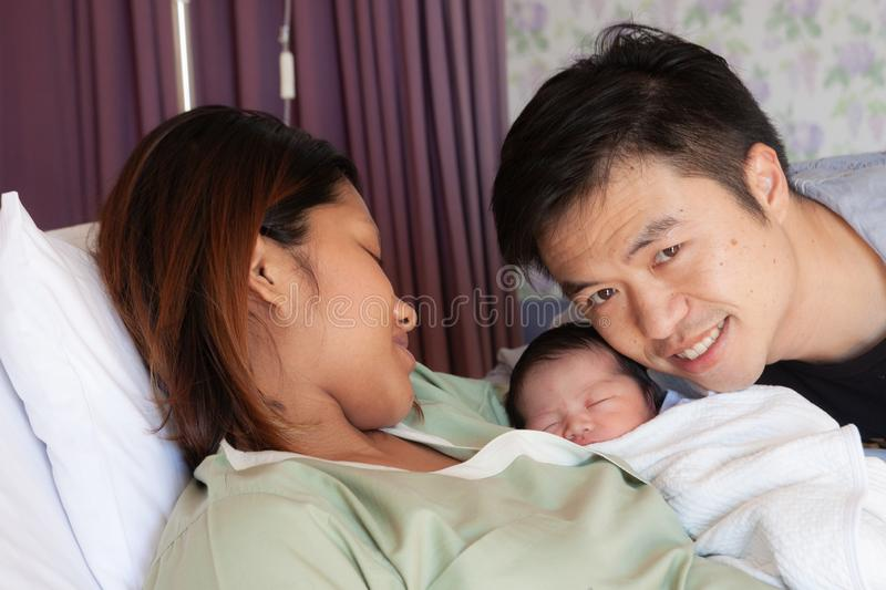 Mother and kid in the holding royalty free stock image
