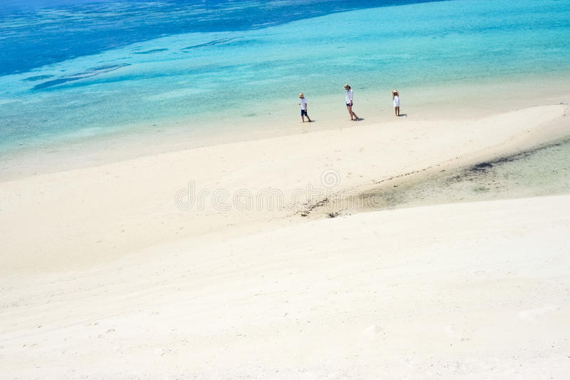 Download Mother And Kids At Tropical Beach Stock Image - Image: 40163985