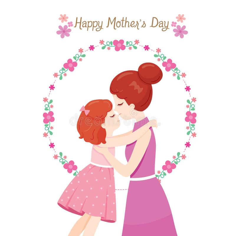 Mother Kissing On Forehead Of Daughter royalty free stock images
