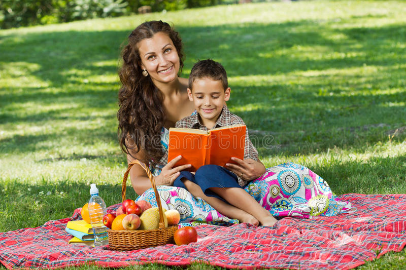 Download Mother And Little Boy In Park Stock Image - Image: 27414001
