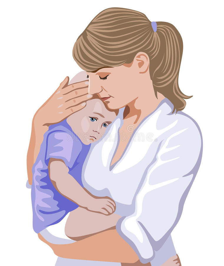 Mother with little child vector illustration